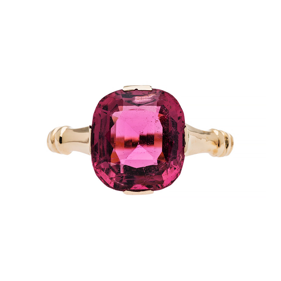 Stunning large pink tourmaline ring from Trumpet & Horn | Corliss