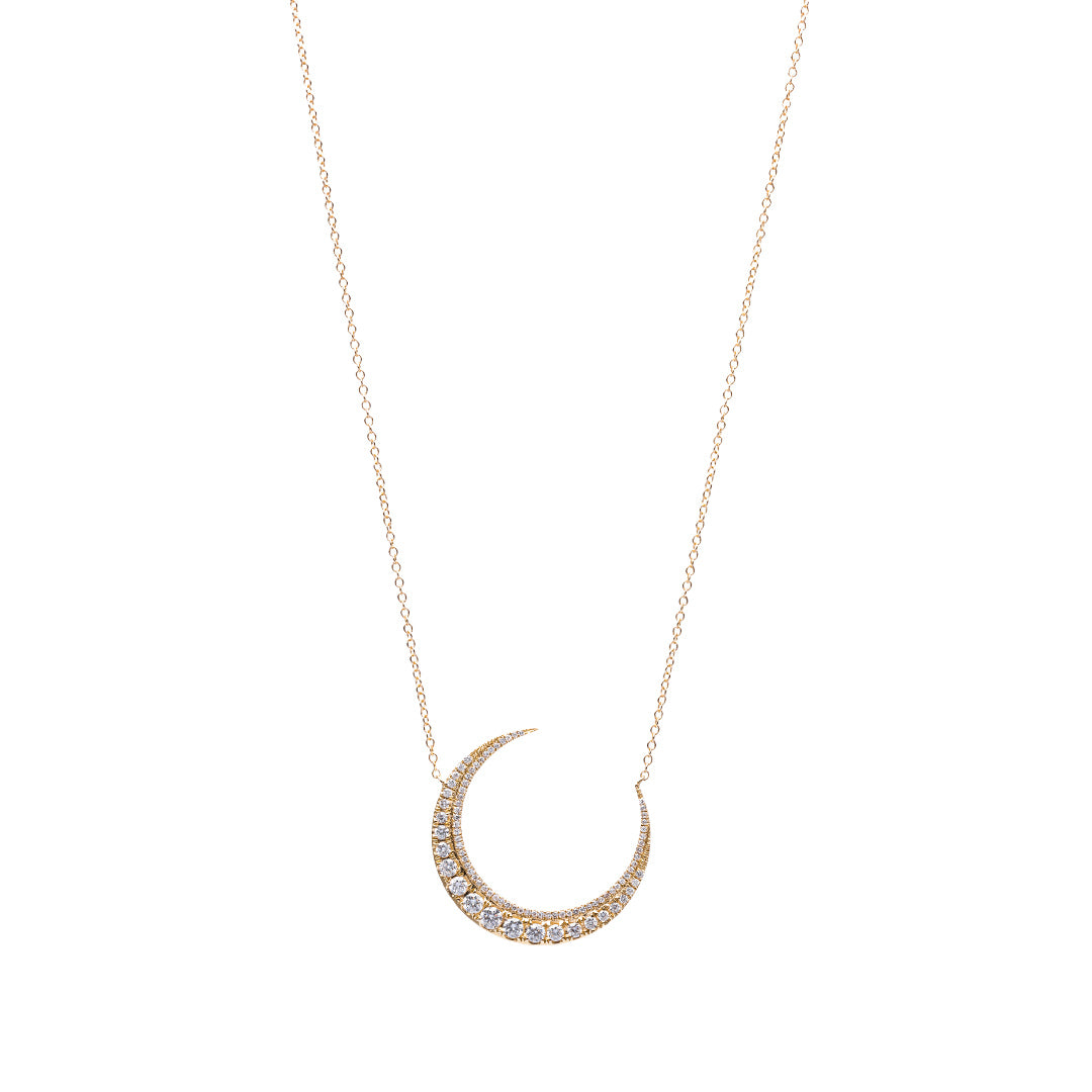 gift famshin girlfriend item moon jewelry crescent new boho horn minimal fashion tomtosh necklace double
