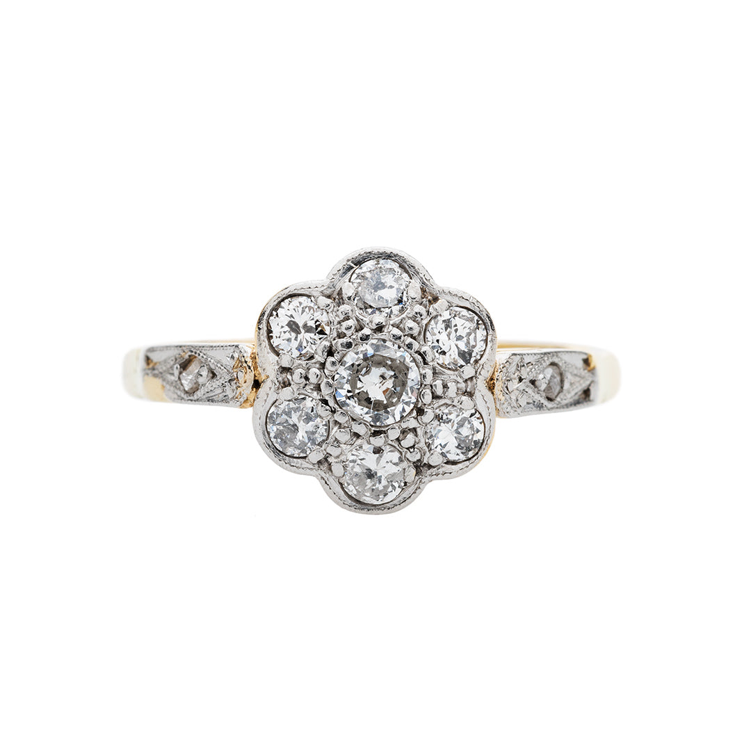 Lovely Mixed Metal Floral Ring | Dunningham