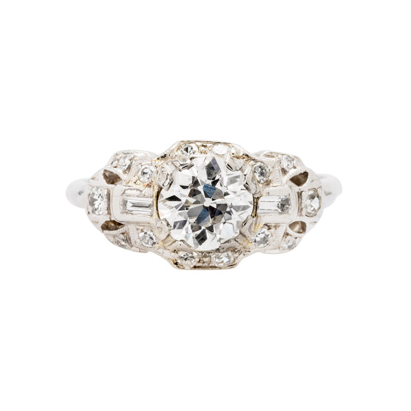 Art Deco Bombe Style Engagement Ring
