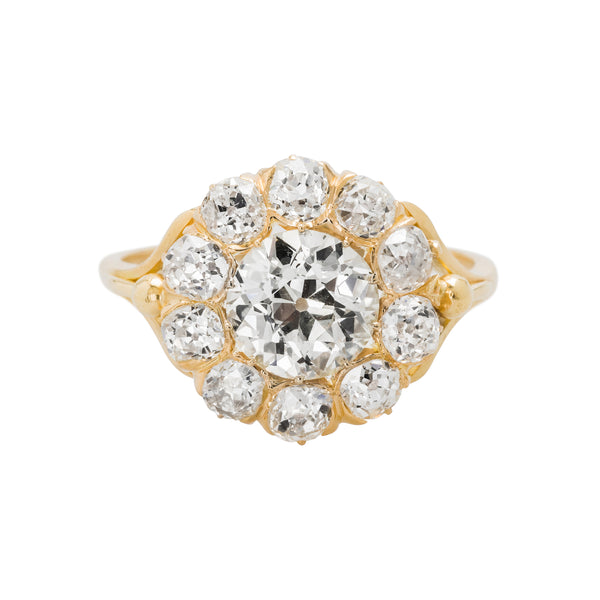 Edencliff authentic Victorian era diamond cluster engagement ring