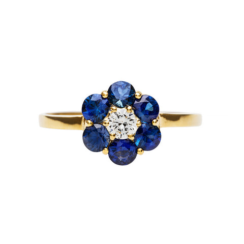 Vintage Sapphire Engagement Rings Trumpet Horn