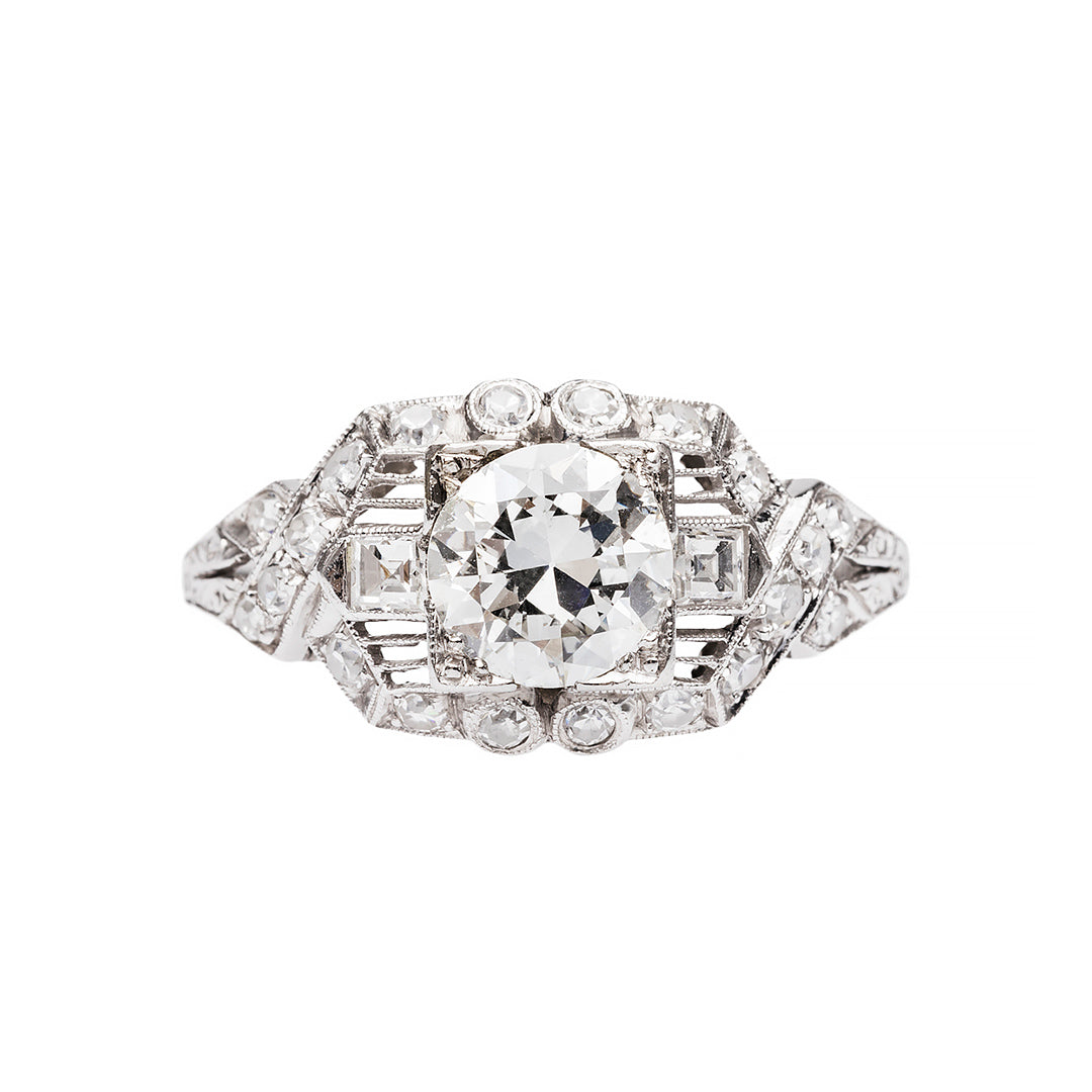 Exceptional Art Deco Engagement Ring