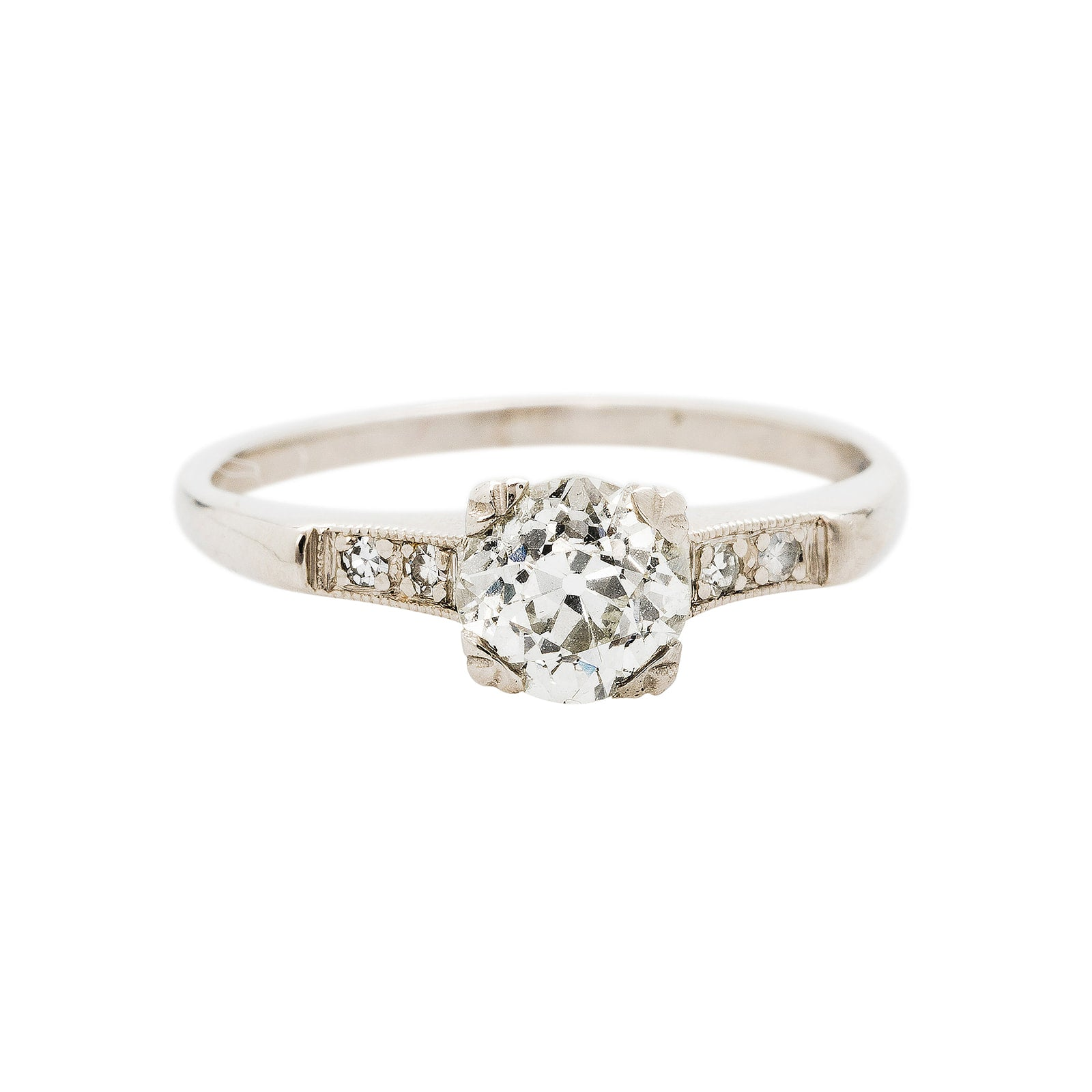 A Timeless and Authentic Art Deco Diamond Engagement Ring