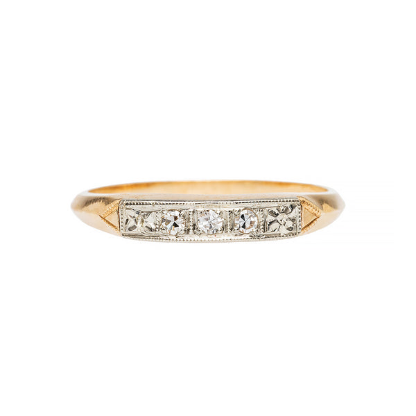 Lovely Two Tone Gold Wedding Band