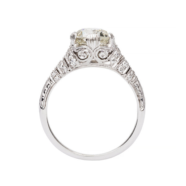 Edwardian Inspired Vintage Diamond Engagement Ring
