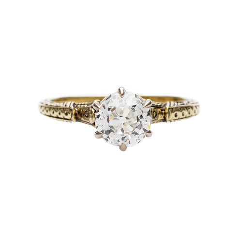 Intricate Edwardian Solitaire Engagement Ring