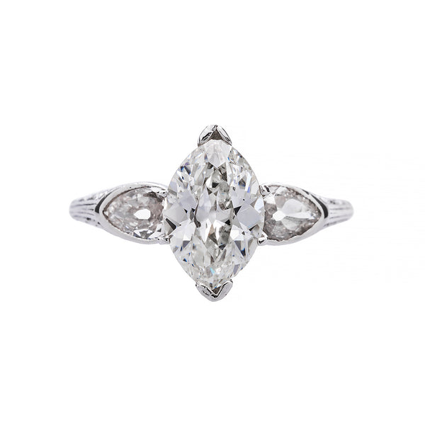 Antique Marquise Cut Diamond Ring | Inverness