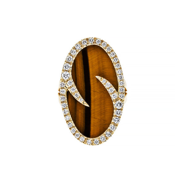 Vintage Tiger's Eye Cocktail Ring | Kalbarri