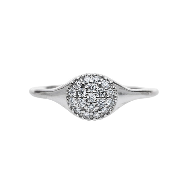 18k white gold vintage diamond engagement ring | Lockland