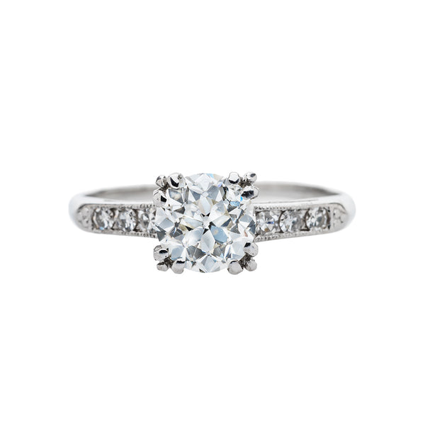Refined Art Deco Solitaire | May Day Lane