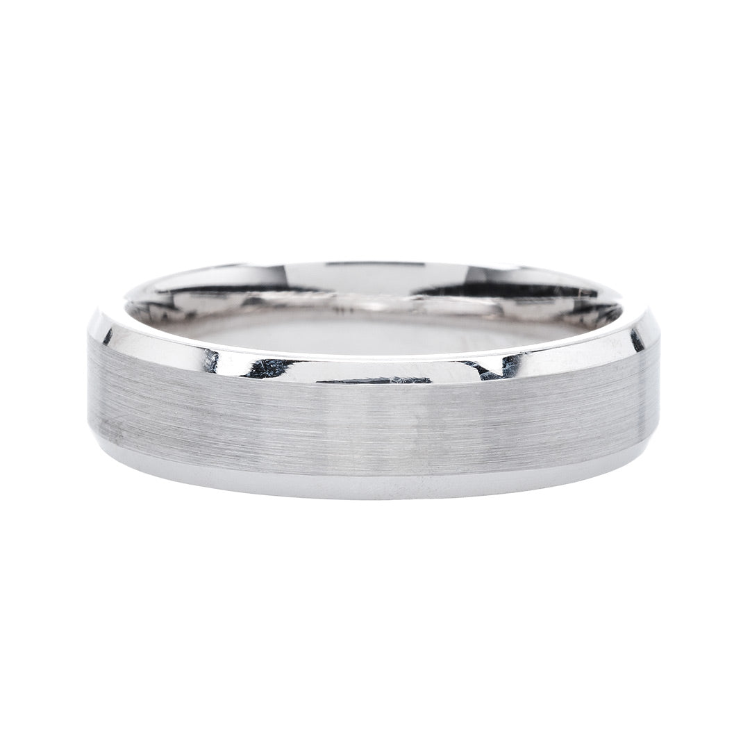 Affordable Contemporary Men's Wedding Band from Trumpet & Horn
