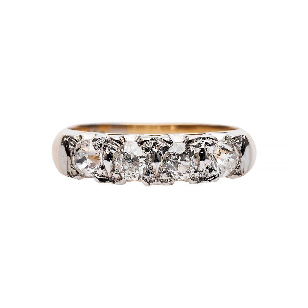 Simple and Stylish Old Mine Cut Diamond Ring
