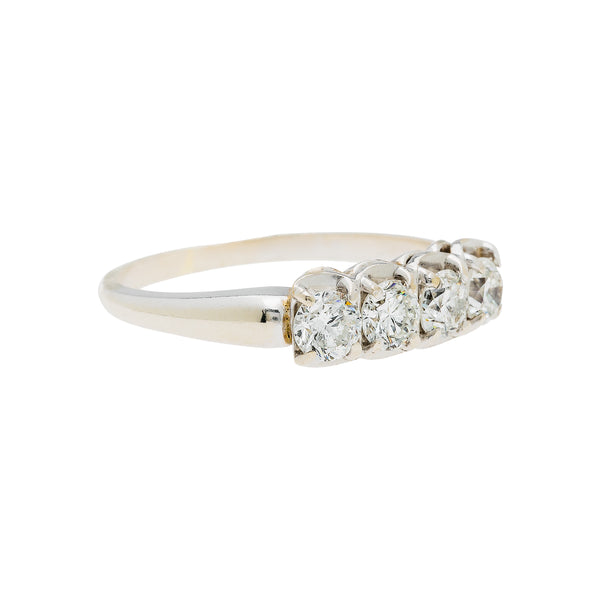 white gold contemporary diamond wedding band