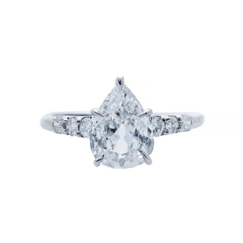 A Fabulous and Authentic Art Deco Pear Shaped Diamond Ring