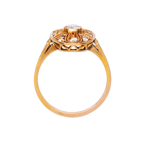 Edwardian Style Vintage Diamond Engagement Ring | Peachtree