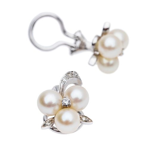 Vintage Pearl Ear Clips
