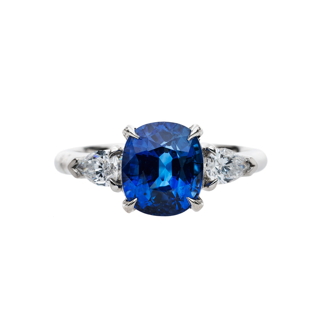 Dazzling Blue Sapphire Engagement Ring | Point Reyes