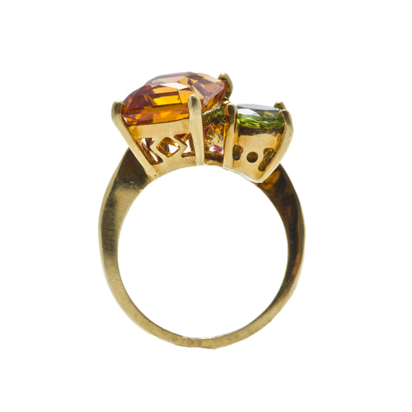A Bold and Colorful Authentic 1970's Cocktail Ring | Raydell