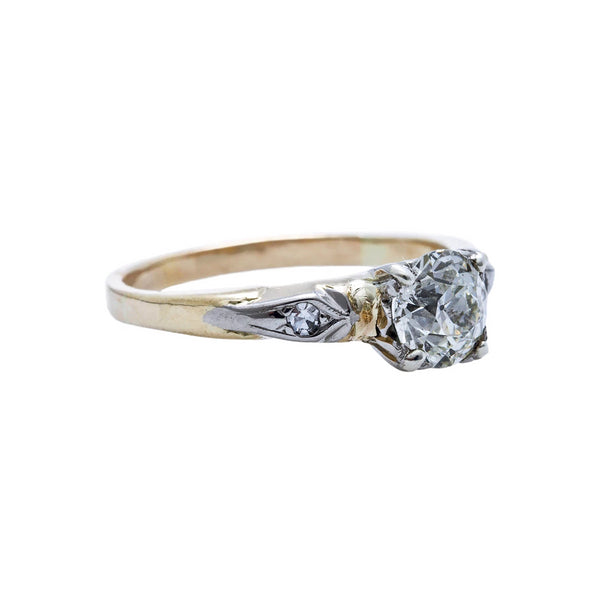 A Traditional and Timeless Retro Era Vintage 14k Gold and Diamond Engagement Ring | Rock Ridge