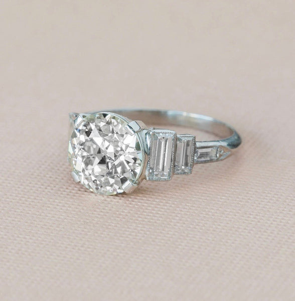 Royal Palm | Antique Art Deco Diamond Engagement Ring