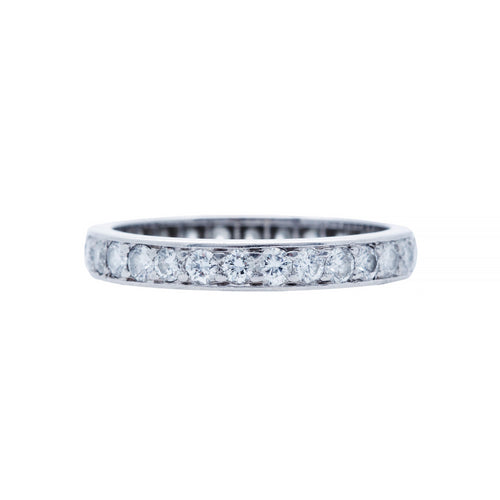 A Timeless and Authentic Art Deco Platinum and Diamond Wedding Band | Sicily