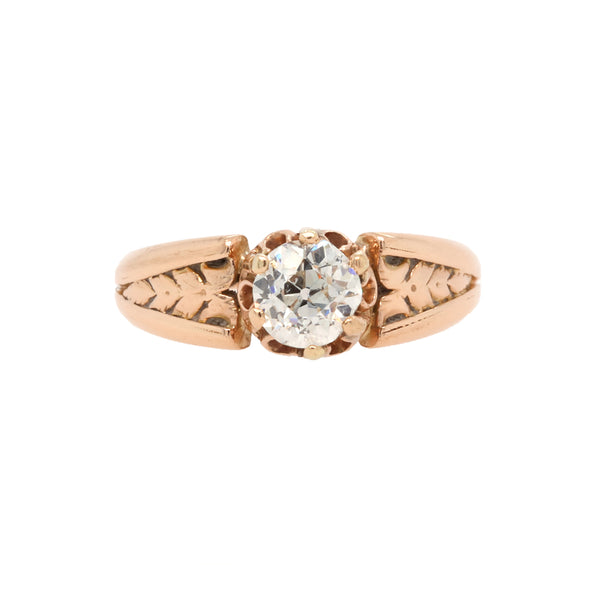 Amazing and Authentic Victorian Era Diamond Solitaire Engagement Ring | Sidwell