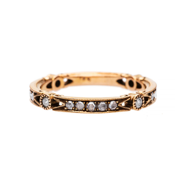 Vintage Inspired Diamond Wedding Band | Sonoma