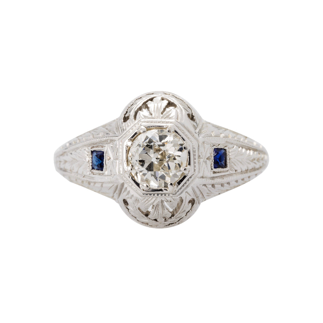 Antique Art Deco Diamond Engagement Ring | Southfork