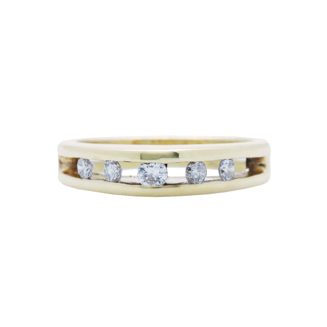 An Unusual 18k Yellow Gold and Diamond Modern Band | Tamarisk