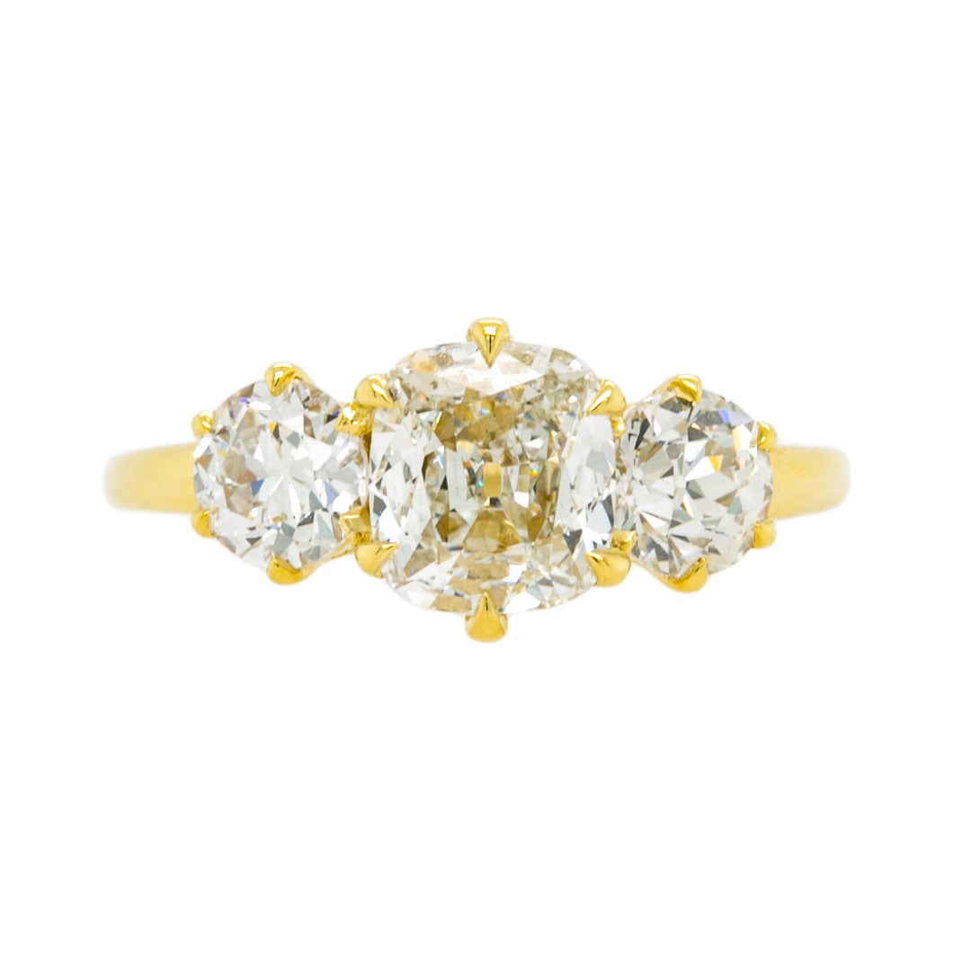 Fabulous and Flashy Three-Stone Diamond Engagement Ring | Provincetown