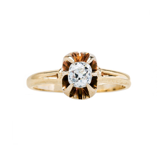 Old Mine Cushion Solitaire | Abingdon