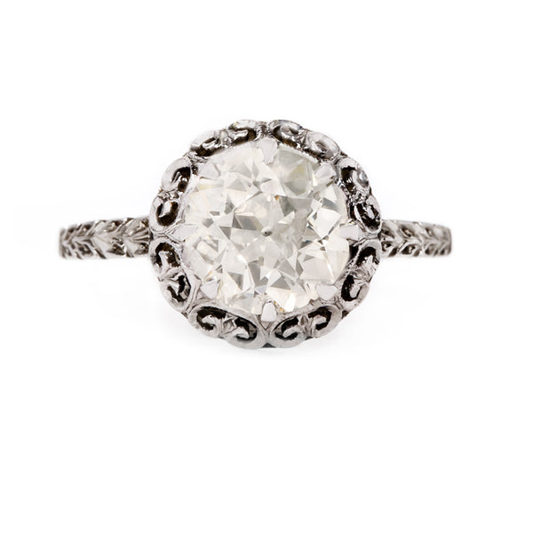 Beautifully Detailed Edwardian Era Solitaire Engagement Ring | Abingsworth from Trumpet & Horn