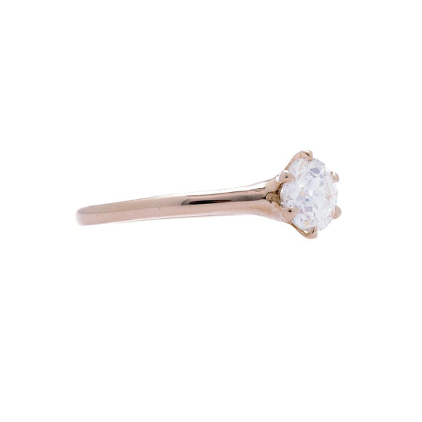 A Lovely Victorian Era 18K Rose Gold and Diamond Engagement Ring | Adbury