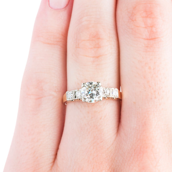 Vintage Art Deco Ring | Vintage Engagement Ring | Ailey from Trumpet & Horn