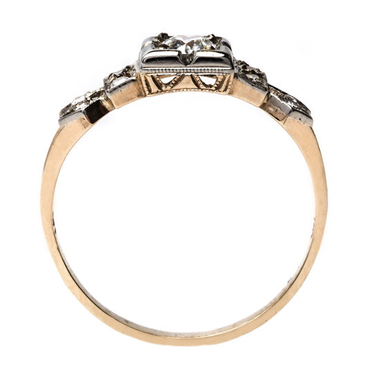 Retro Era Mixed Metal Engagement Ring | Alcott from Trumpet & Horn
