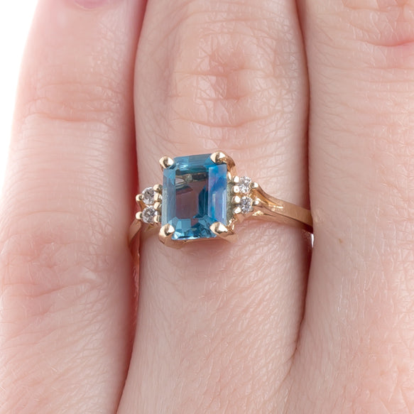 Fantastic Topaz Alternative to Diamond Engagement Ring | Althea