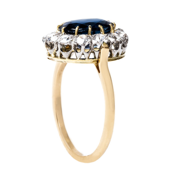 Deep Blue Sapphire Engagement Ring | Anacapa from Trumpet & Horn