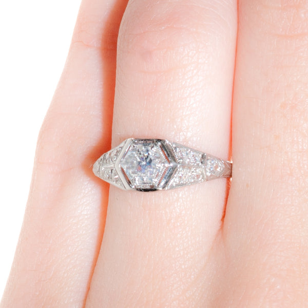 Art Deco Engagement Ring | Vintage Engagement Ring | Andrews from Trumpet & Horn
