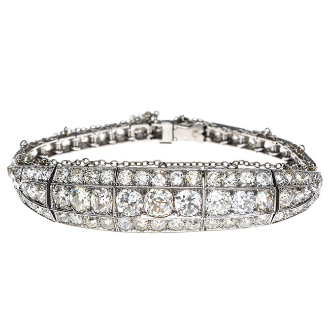bracelet main diamond detailmain art phab in blue deco nile platinum estate tw lrg ct