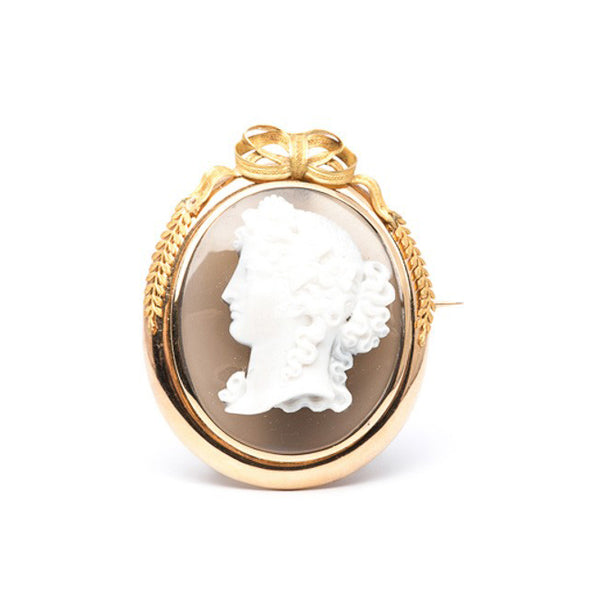 gold cameo pin