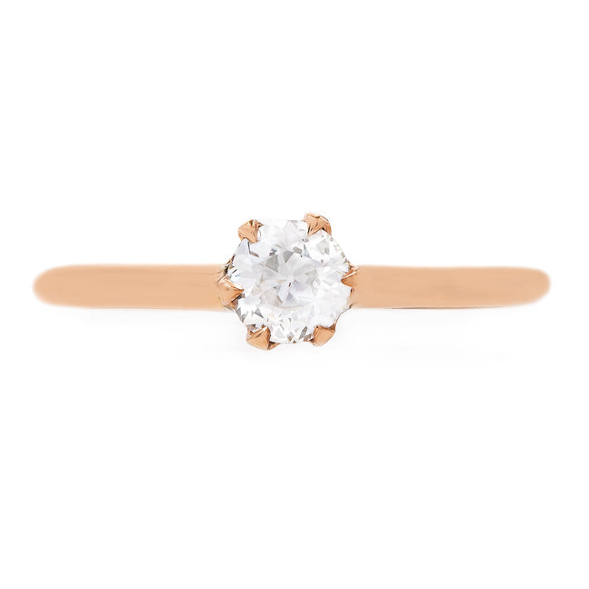 Antique Rose Gold Solitaire Engagement Ring | Chaplin from Trumpet & Horn