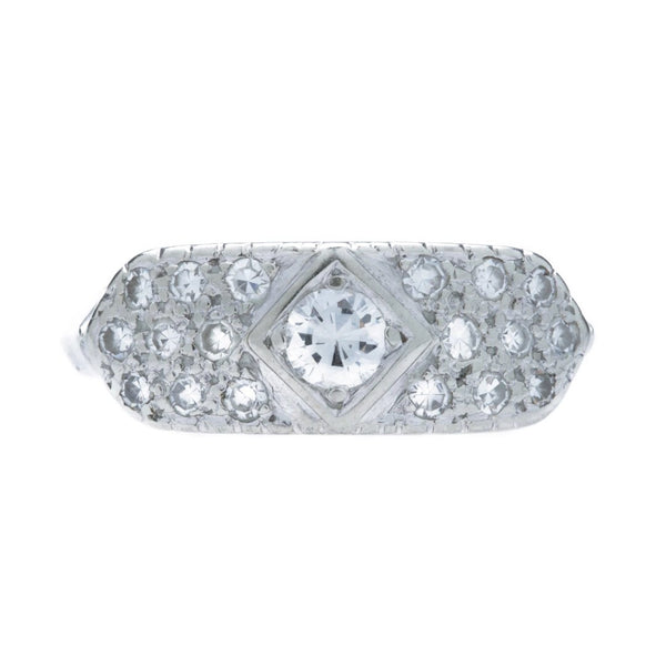A Charming Vintage 18K White Gold and Diamond Band | Appleton Lane