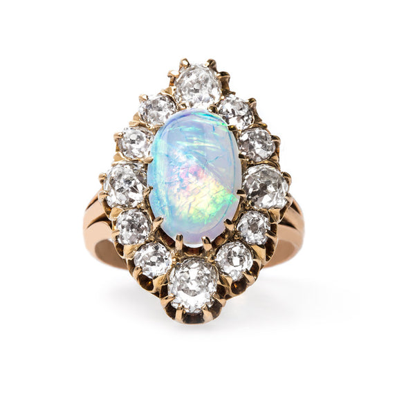 Bold Victorian Era Opal Cocktail Ring | Archcliffe from Trumpet & Horn