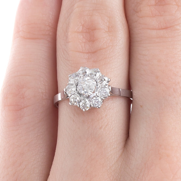 Antique Old Mine Cut Diamond Cluster Engagement Ring | Archer from Trumpet & Horn