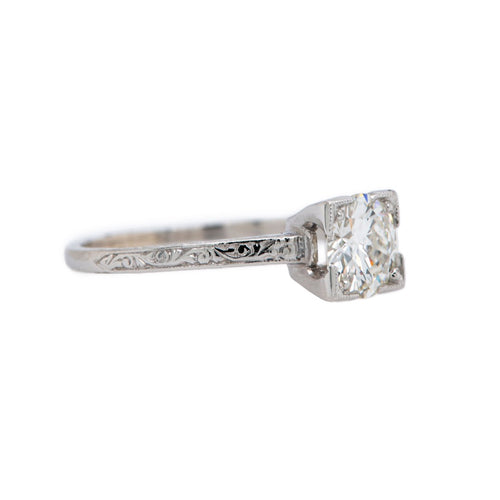 Classic Diamond Solitaire with Gorgeous Hand-Engraving | Ashboro