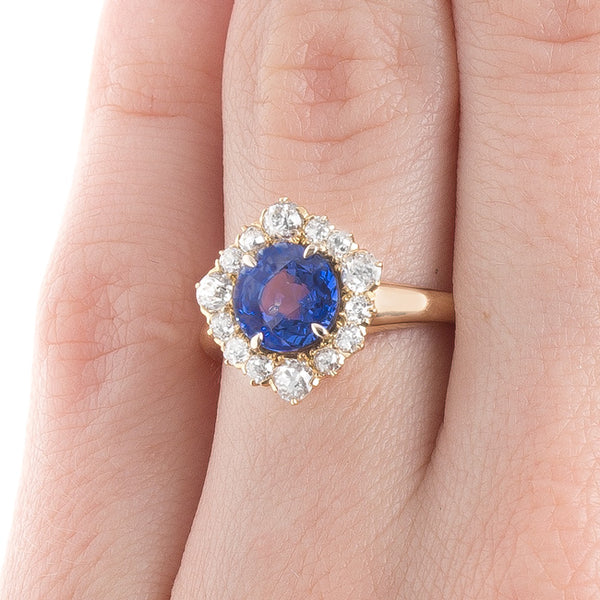 Alluring Violet Blue Sapphire Ring | Ashdown from Trumpet & Horn