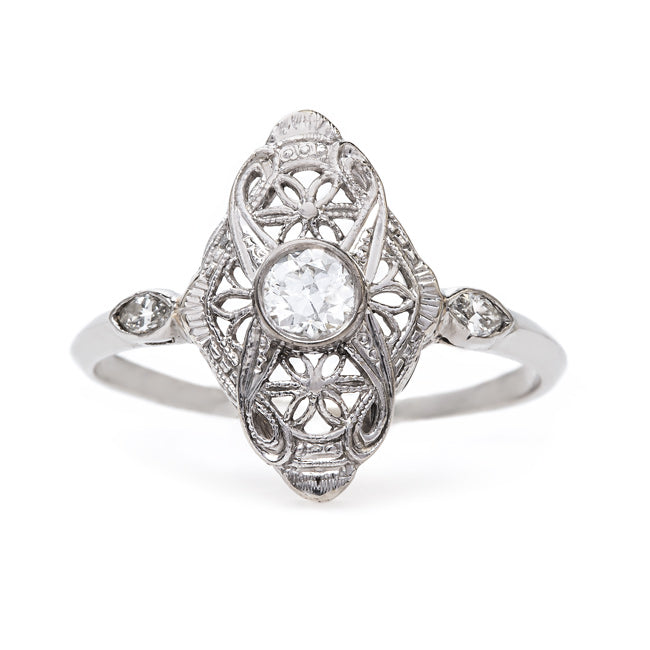 Delicate Art Deco Navette Ring | Atwater from Trumpet & Horn