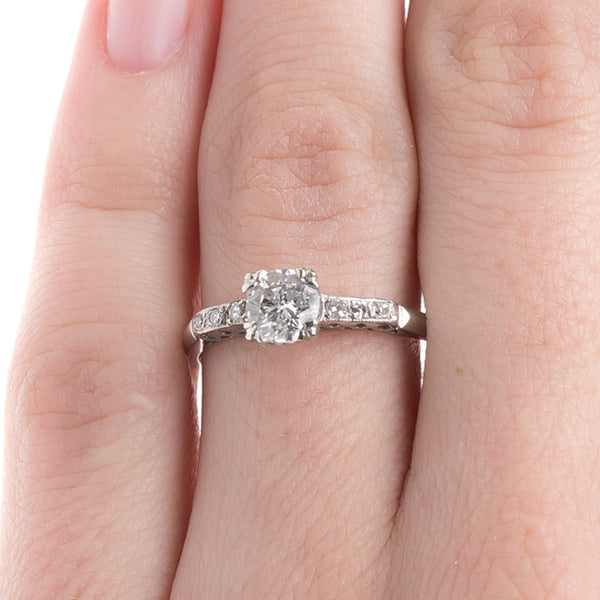 Aurora Vintage Solitaire Diamond Engagement Ring from Trumpet & Horn