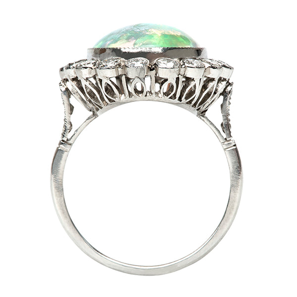 Baldwin Vintage Inspired Oval Halo Cocktail Ring from Trumpet & Horn